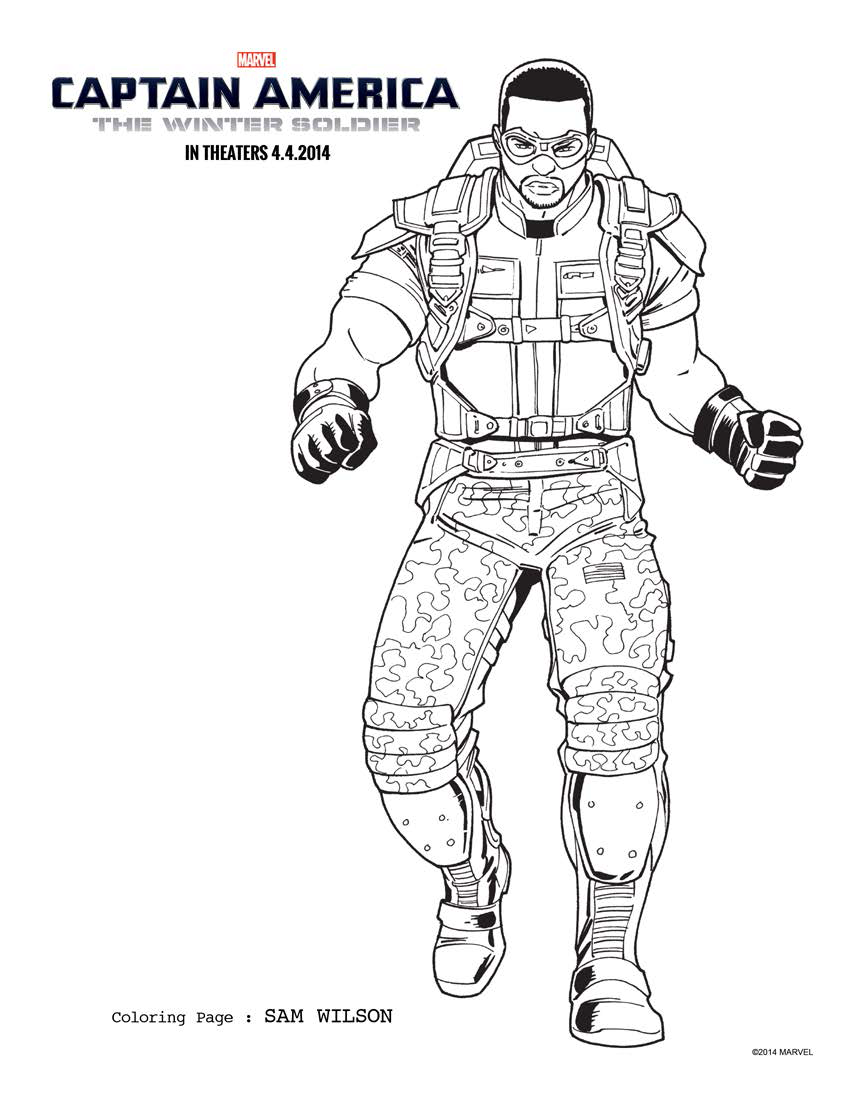 falcon avengers coloring pages - photo#13