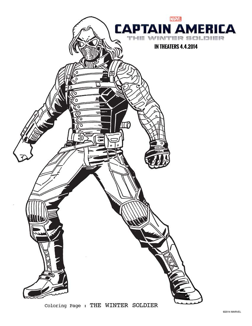 captain america the winter soldier coloring pages more crunchy